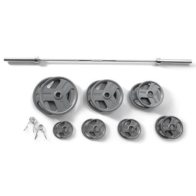 210lb Olympic Weight Set (165lb plates + 45lb barbell) for $89.83