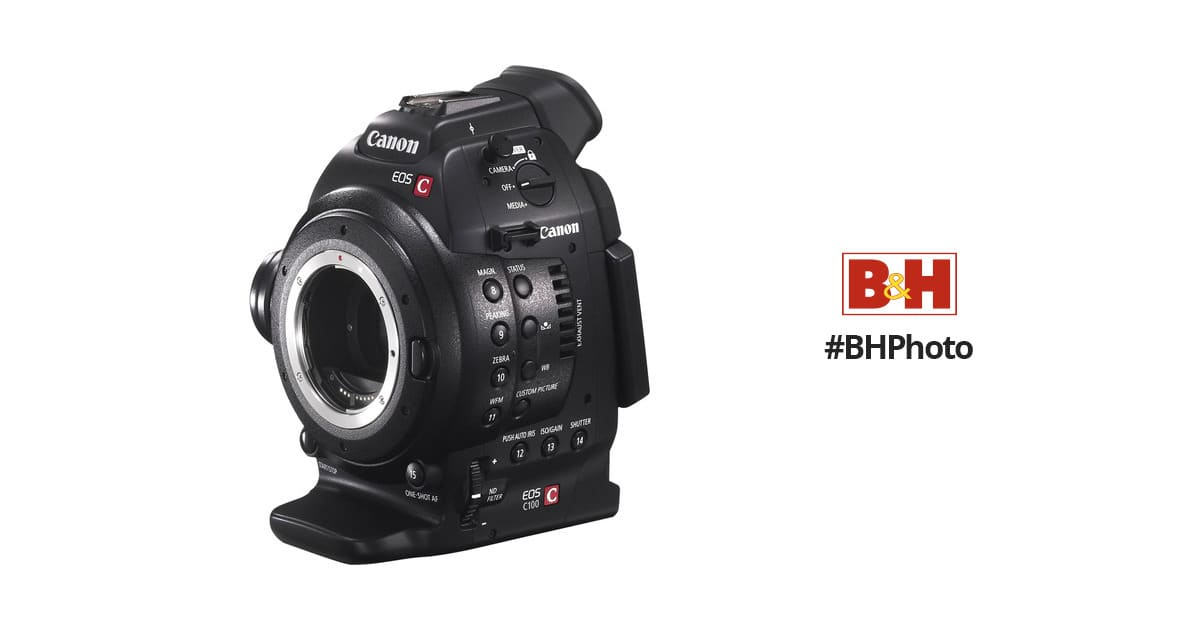Canon EOS C100 Cinema EOS Camera with Dual Pixel CMOS AF (Body Only) $1,299 $1299