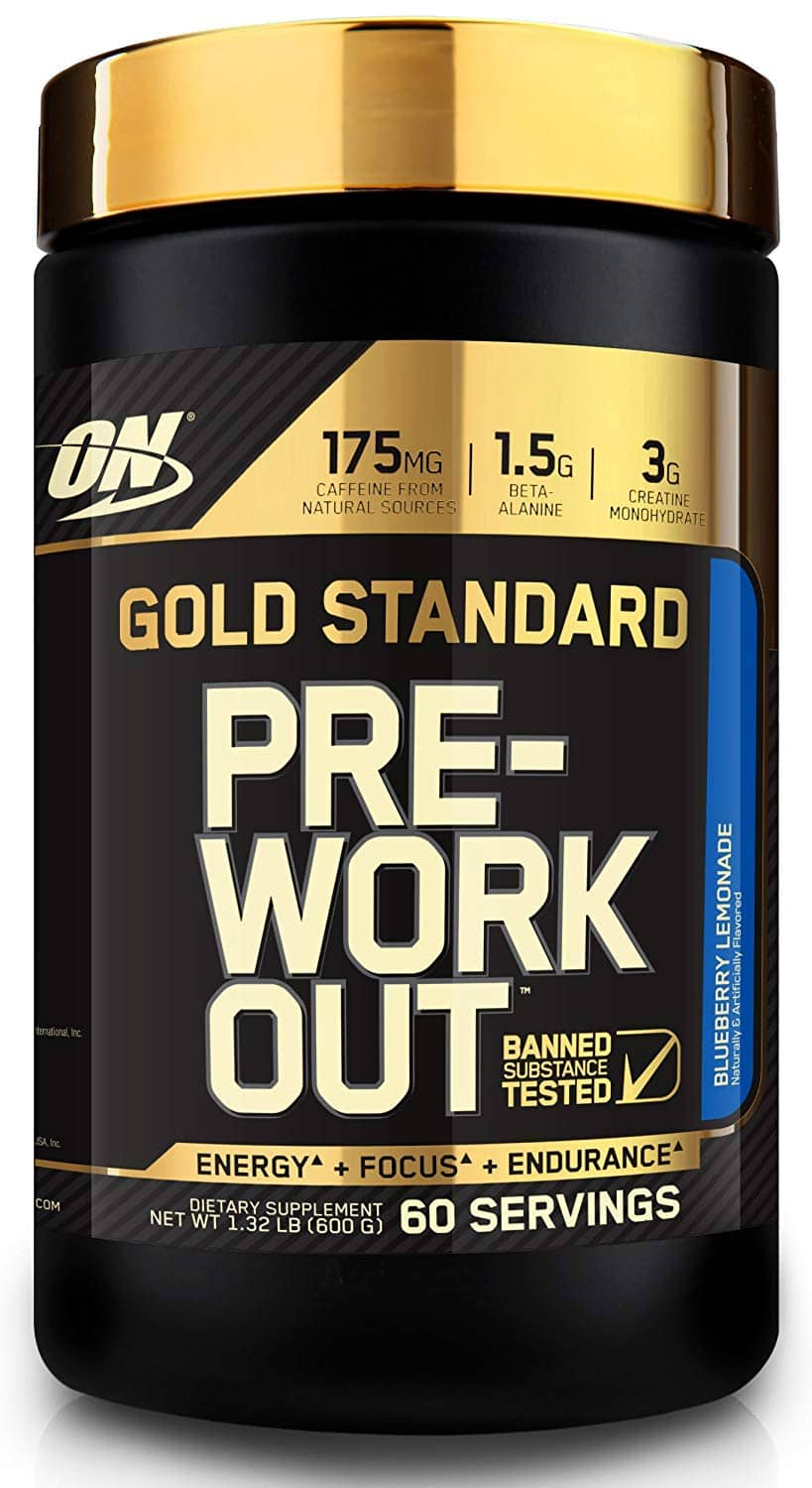 60 servings Blueberry Lemonade Gold Standard Pre-Workout $26.35 with S&S and Free Shipping