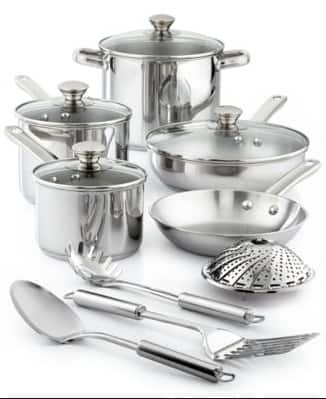 Tools of the Trade 13-Pc. Cookware Set - Stainless Steel or Non-stick $29.99 (Originally $119.99)