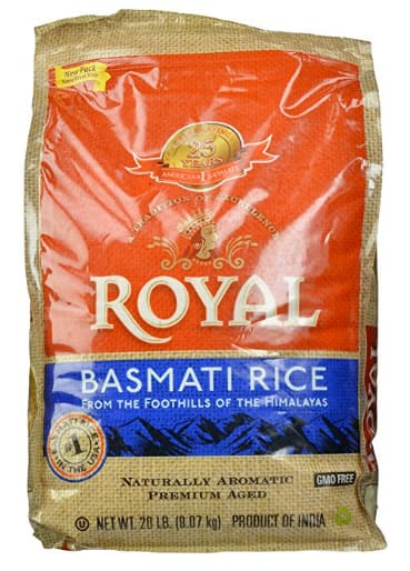 Amazon Prime Members: Royal Basmati Rice 20 lb bag on sale for $15.98