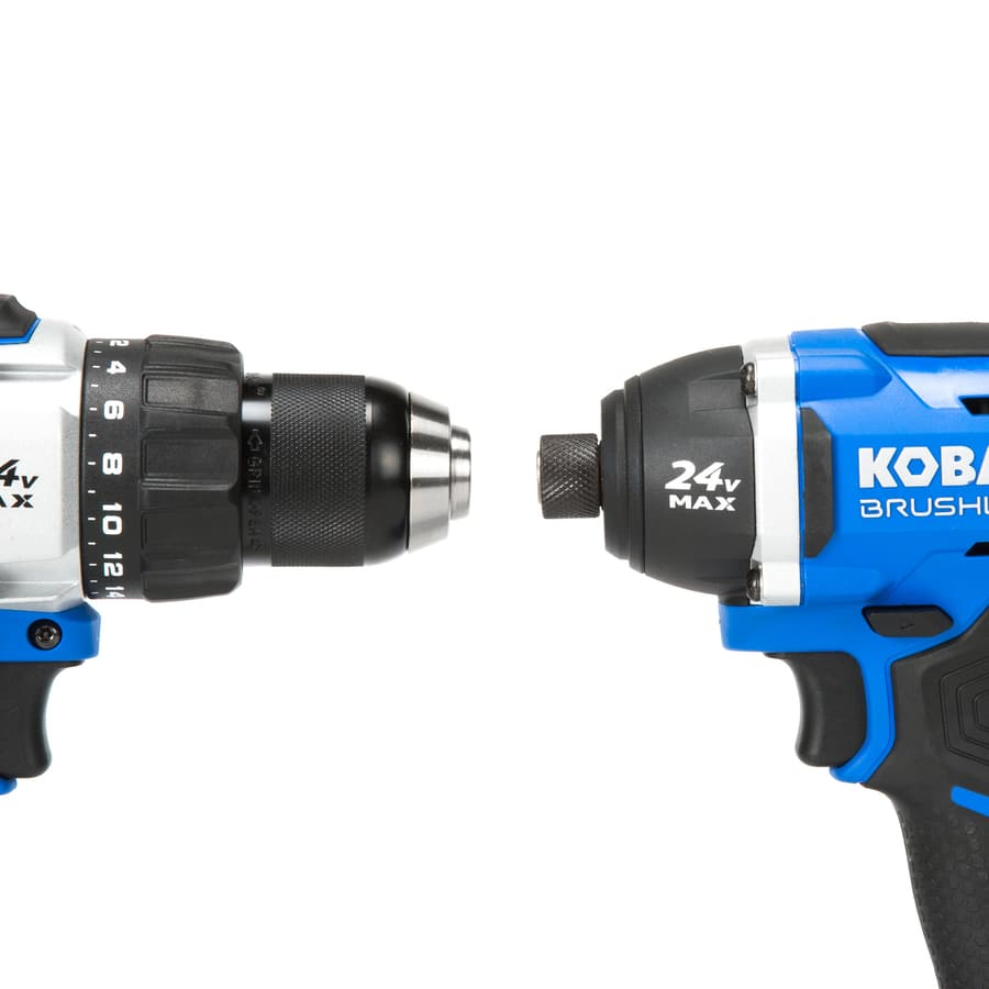 Kobalt 2-Tool 24-Volt Max Brushless Power Tool Combo Kit with Soft Case (Charger Included and 1-Battery Included) $159