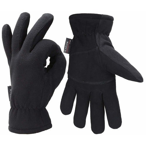 Mens Winter Gloves Cold Weather Thermal Warm Fleece Windproof Gloves for Men $11.39