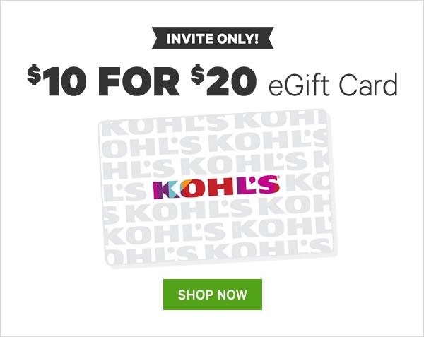 $10 For $20 Kohl's eGift Card , Groupon invited only