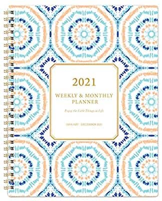"""Weekly & Monthly 2021 Planner with Thick Paper, 8""""x10"""" $3.99"""