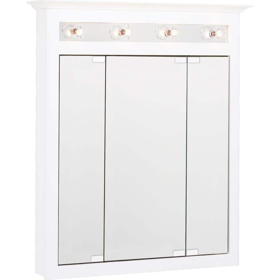 Project Source Surface Mounted Mirrored Lighted Medicine Cabinet 27 80 Ymmv 8