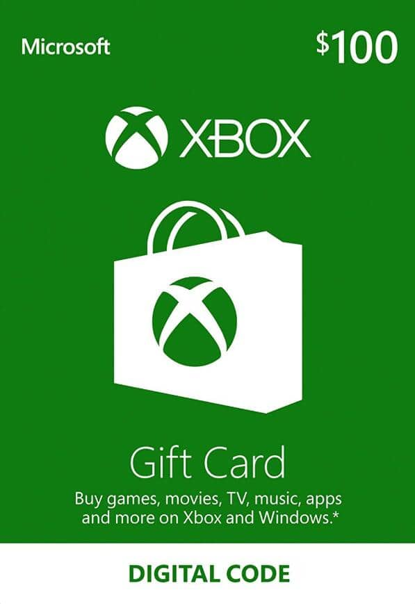 Xbox Live Gift cards $100 for $79.99, $50 for $38.89 and $30 for $23.93