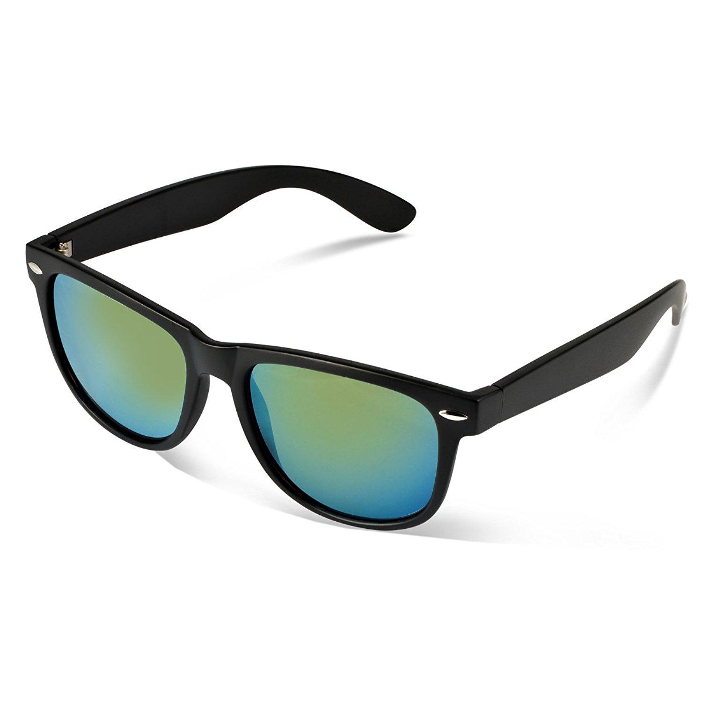 Reflective Revo Color Full Mirrored Lens Large Horn Rimmed Style Uv400 Wayfarer Sunglasses @ Amazon $5.98