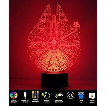 7 Color 3D Touch Table Lamp, ProCIV Star Wars Color Changing Desk Table Night Light Lamp for Children Bedroom Home Decoration Halloween Christmas Gift @ Amazon $13.29