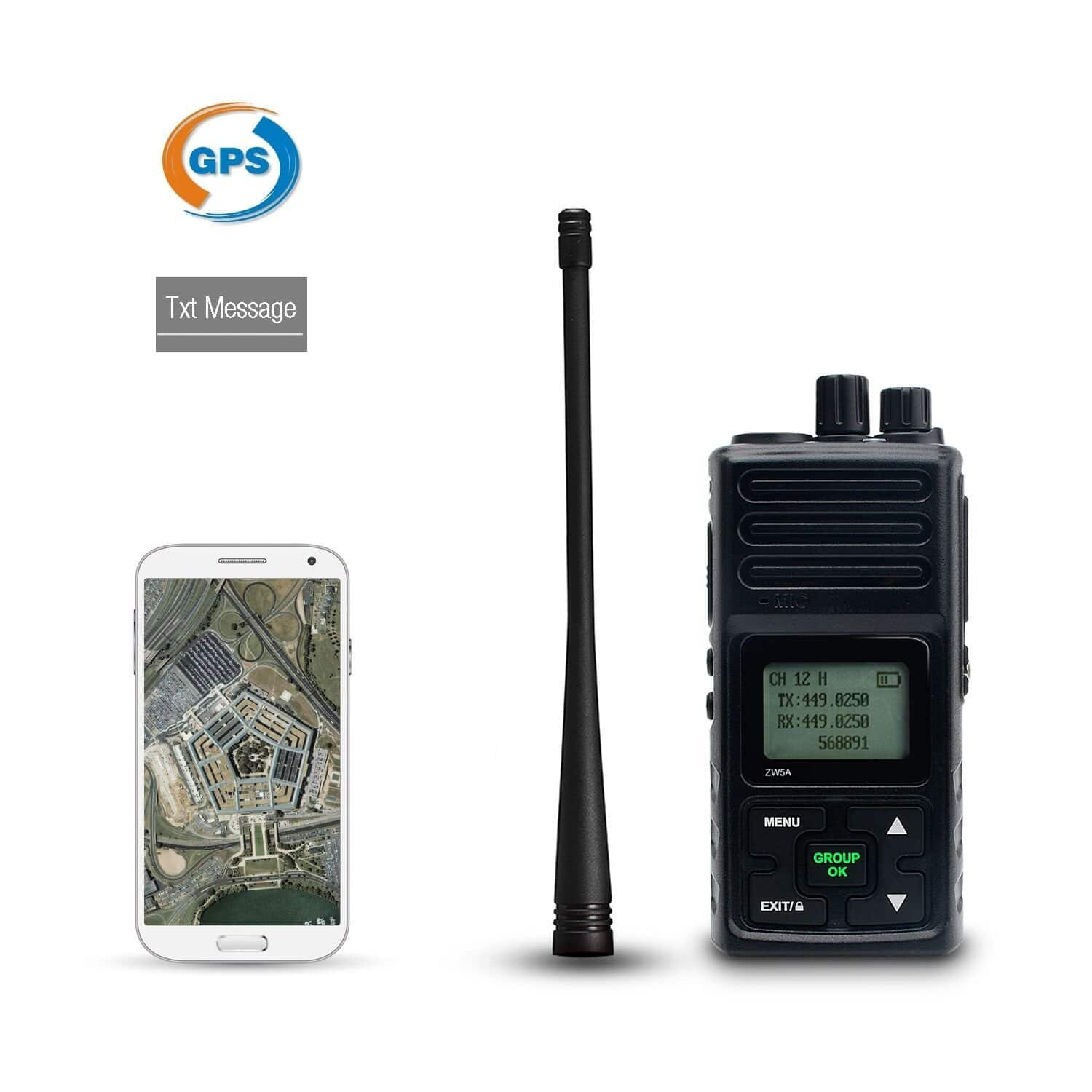 5W Smart Two Way Radio Walkie Talkies Text & GPS on Your Phone No Service Required IP65 $48.3 AC FS w/Amazon Prime