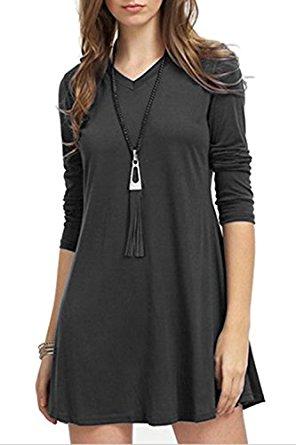 Women's Casual Dress Party Dress Long Sleeve T-Shirt Tunic Dress From $4.89 @Amazon
