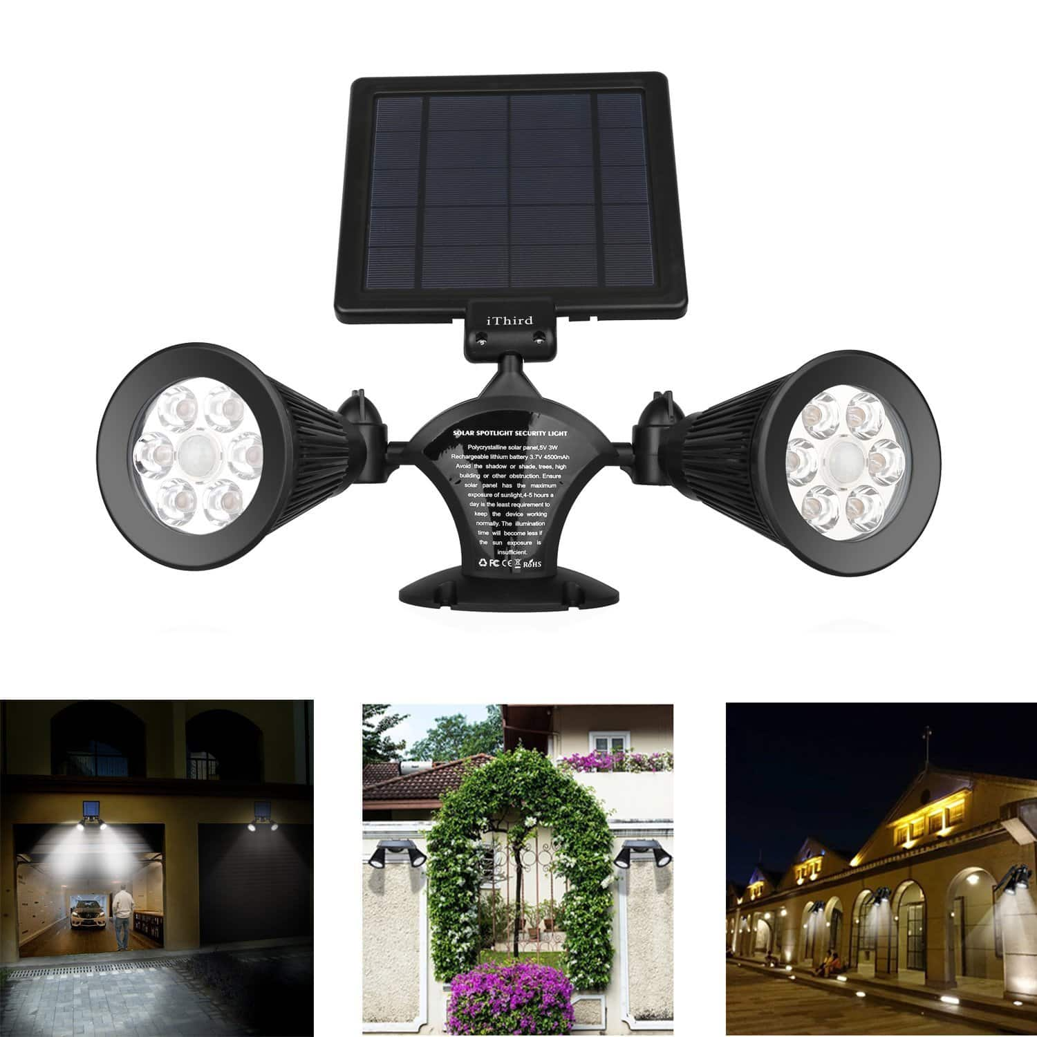 floodlight motion sunforce halogen costco light security powered solar lighting activated of