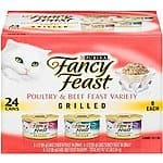 Fancy Feast Poultry & Beef Grilled Variety Pack 24 cans for $8.38 on Amazon