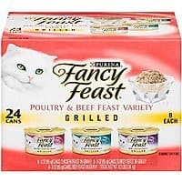 Amazon Deal: Fancy Feast Poultry & Beef Grilled Variety Pack 24 cans for $8.38 on Amazon