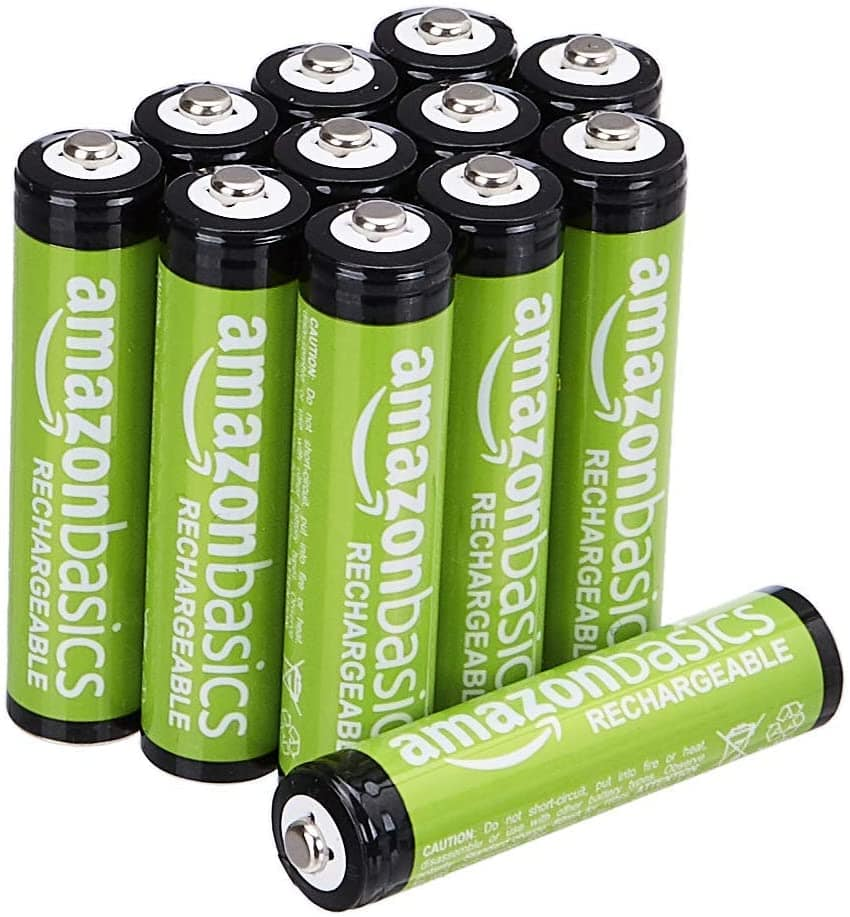 Amazon Basics 12x AAA Rechargeable for $10 with S&S + Coupon $10.12