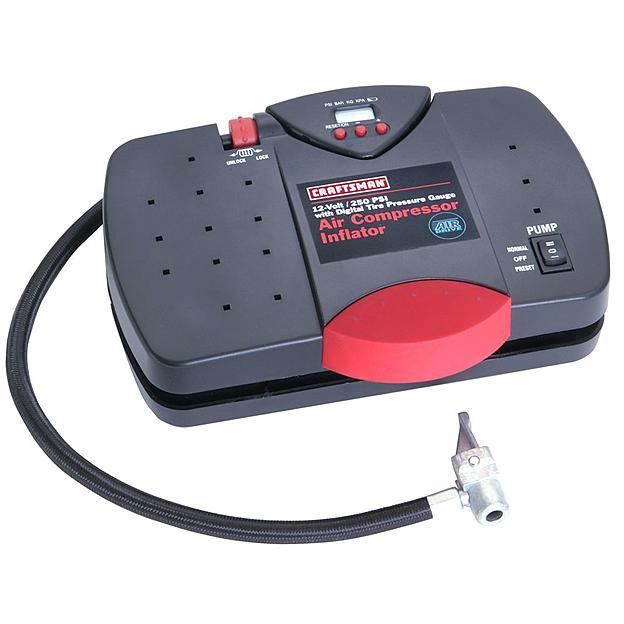 Craftsman 12V Portable Inflator with Digital Tire Pressure Gauge for $17.99 + Free store pickup