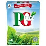 PG Tips Black Tea Pack of two 240-count boxes - $22.75 ($0.05 / count) & FS