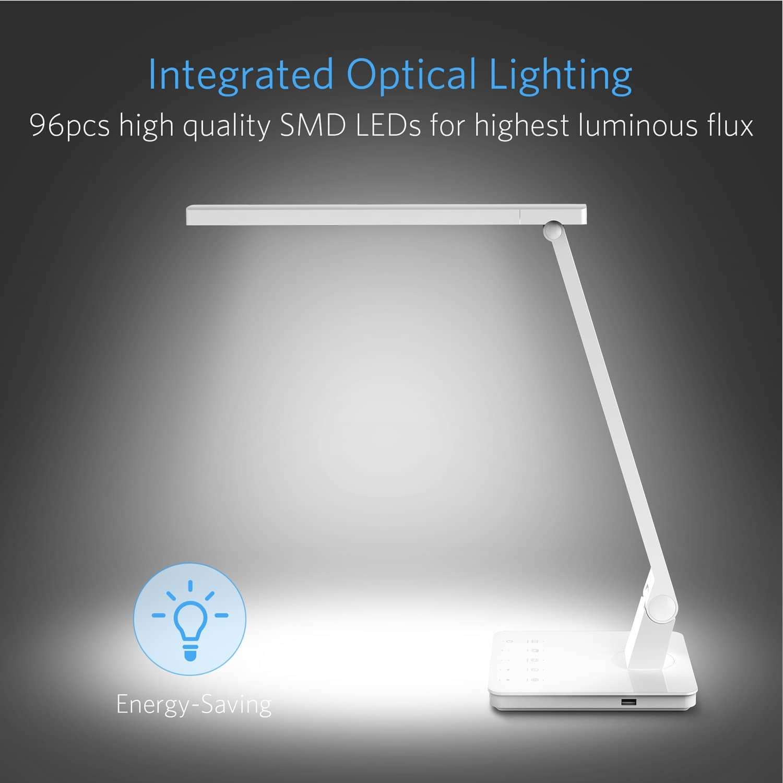 Bestek Touch-Sensitive LED Desk Lamp Dimmable Eye-Caring Desk Lights with 4 lighting modes for $19.6 @Amazon