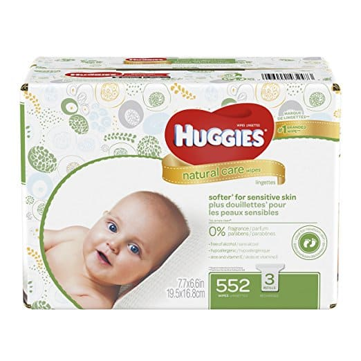 Amazon has 552 Huggies sensitive wipes for $8.55 (0.15/wipe) w/ S&S