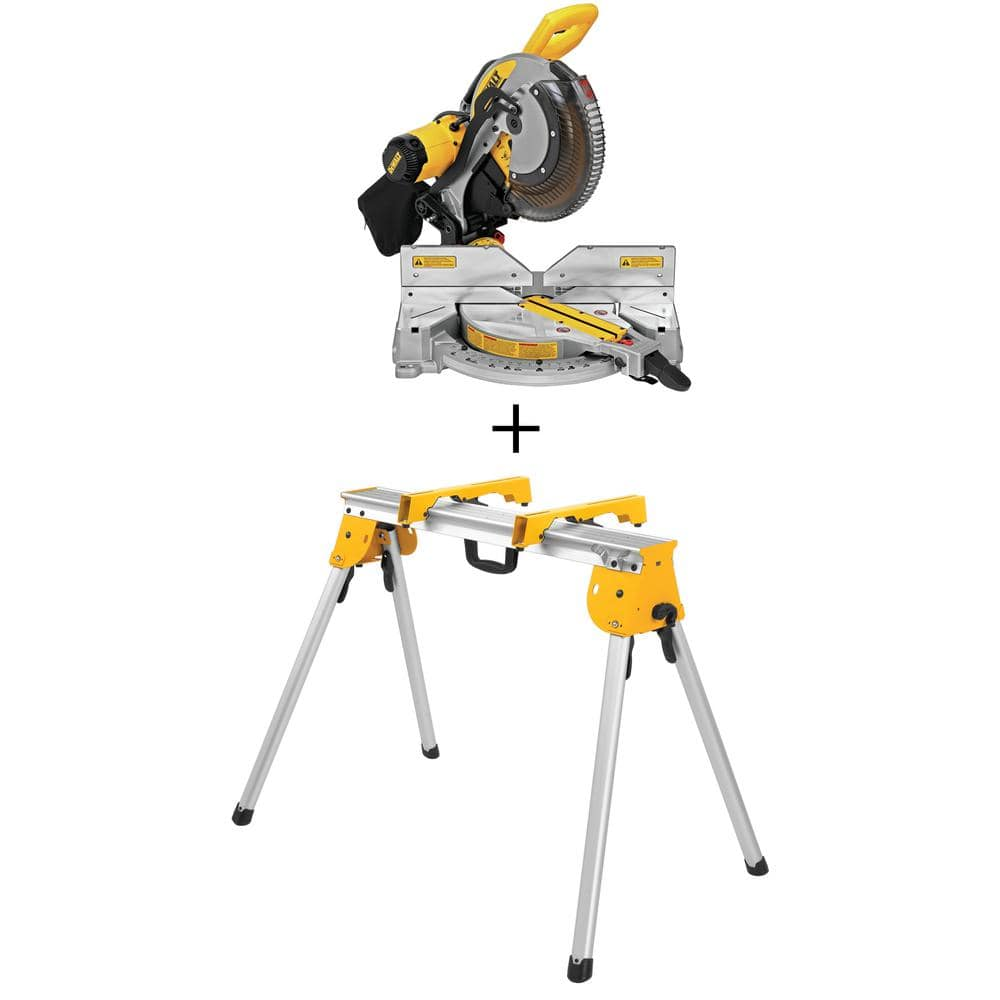 $299 Dewalt 12 in Dual Bevel Miter Saw with Stand