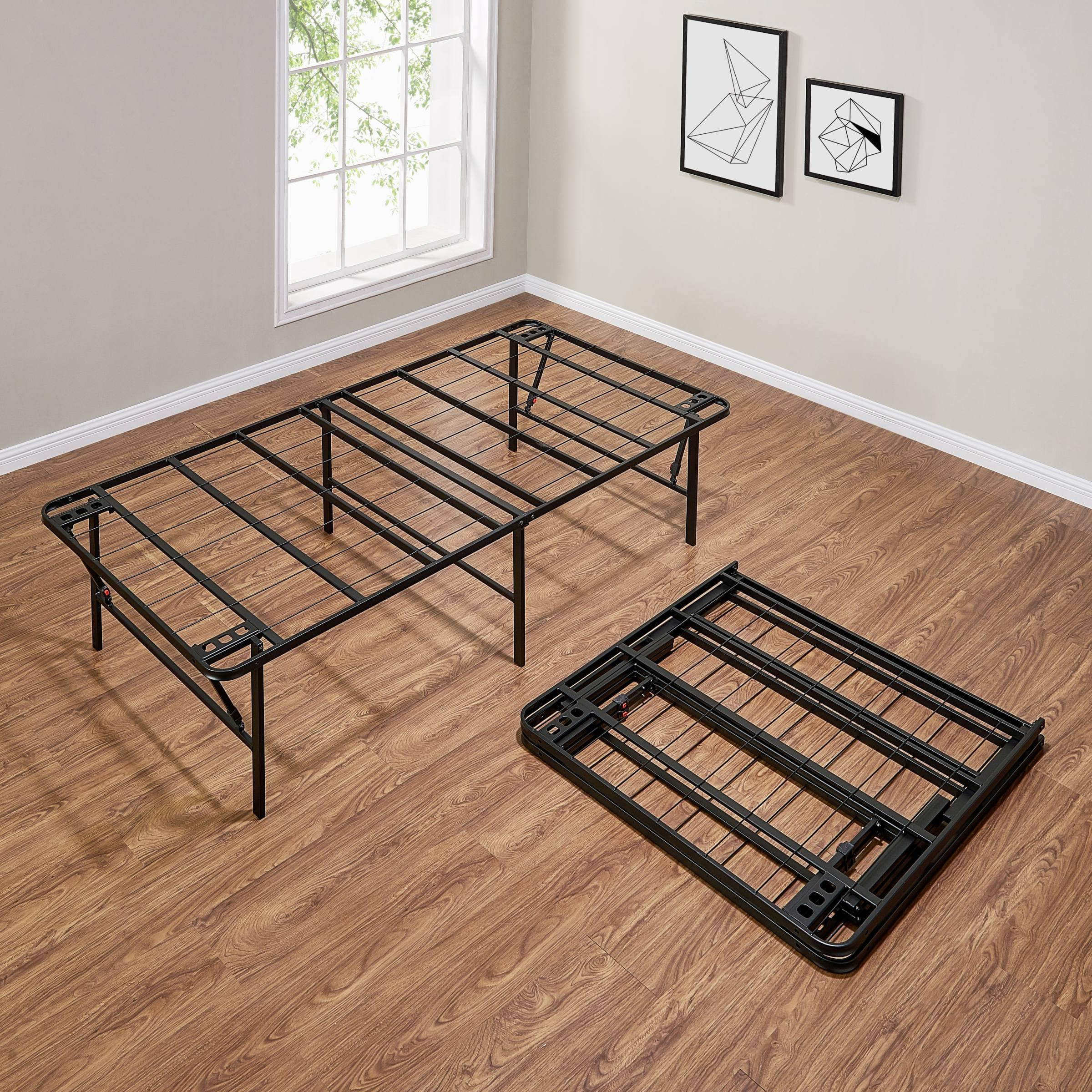 Mainstays 18 inch High Profile Foldable Steel Bed Frame Twin $49 Queen $70 King $72