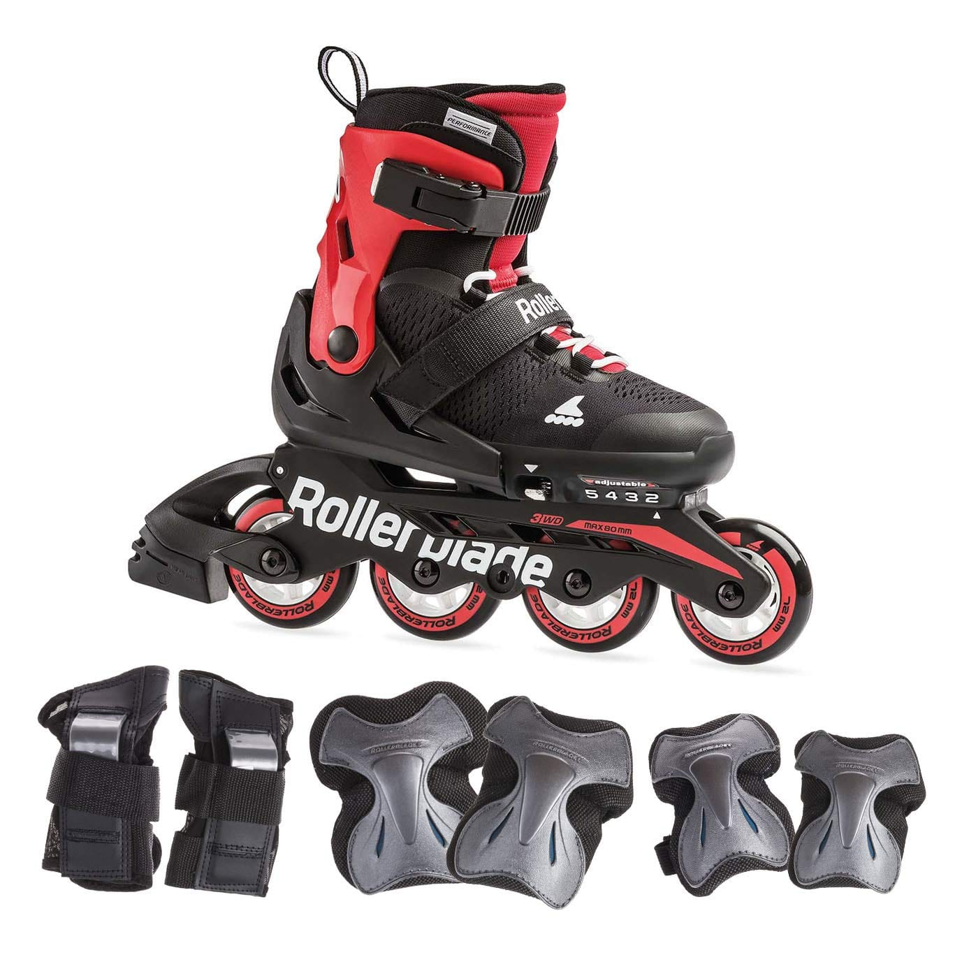 20% off Rollerblade Microblade Kids Adjustable size skate with protective gear $95.99