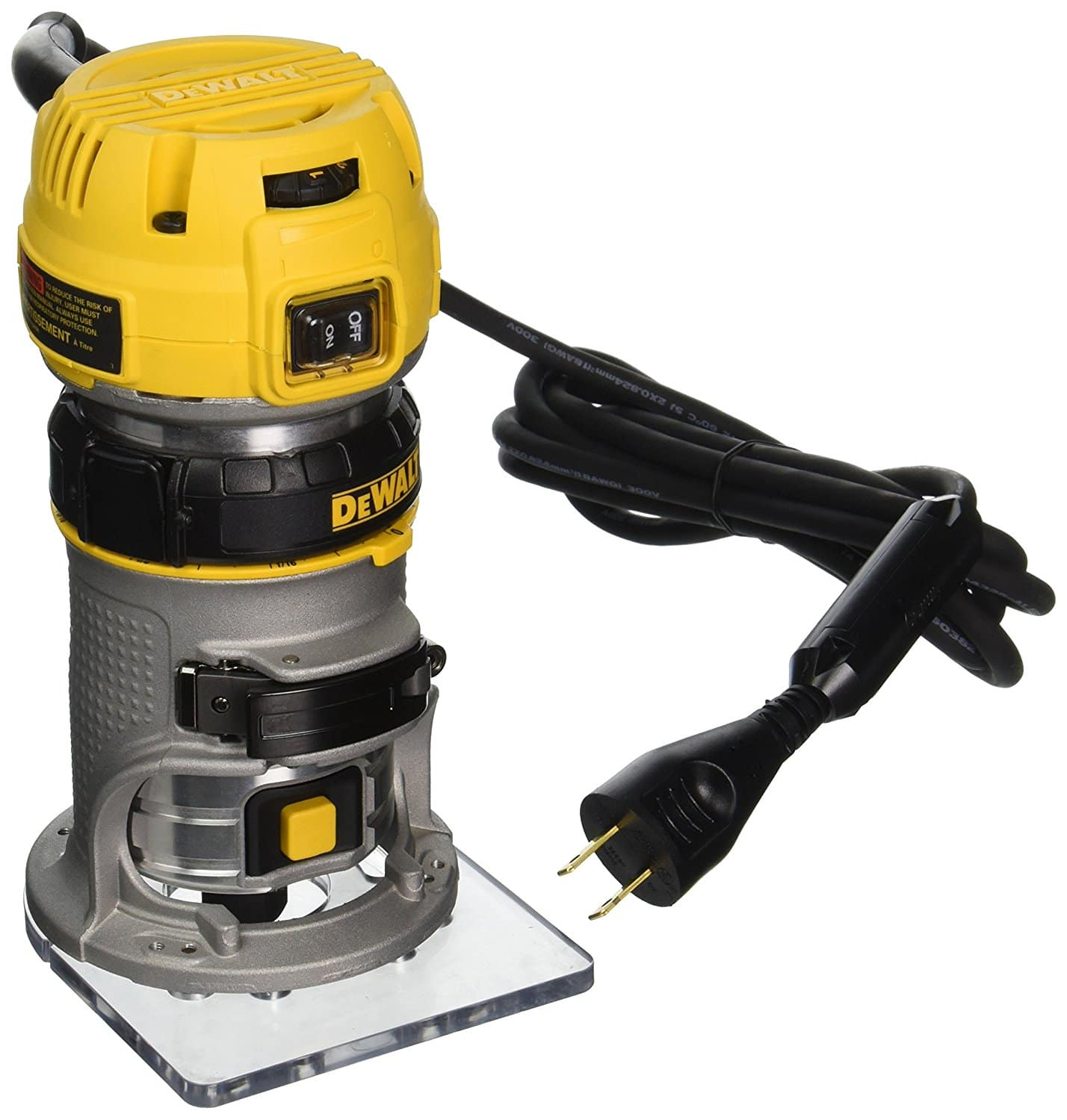 DEWALT DWP611 1.25 HP Max Torque Variable Speed Compact Router with Dual LEDs $99