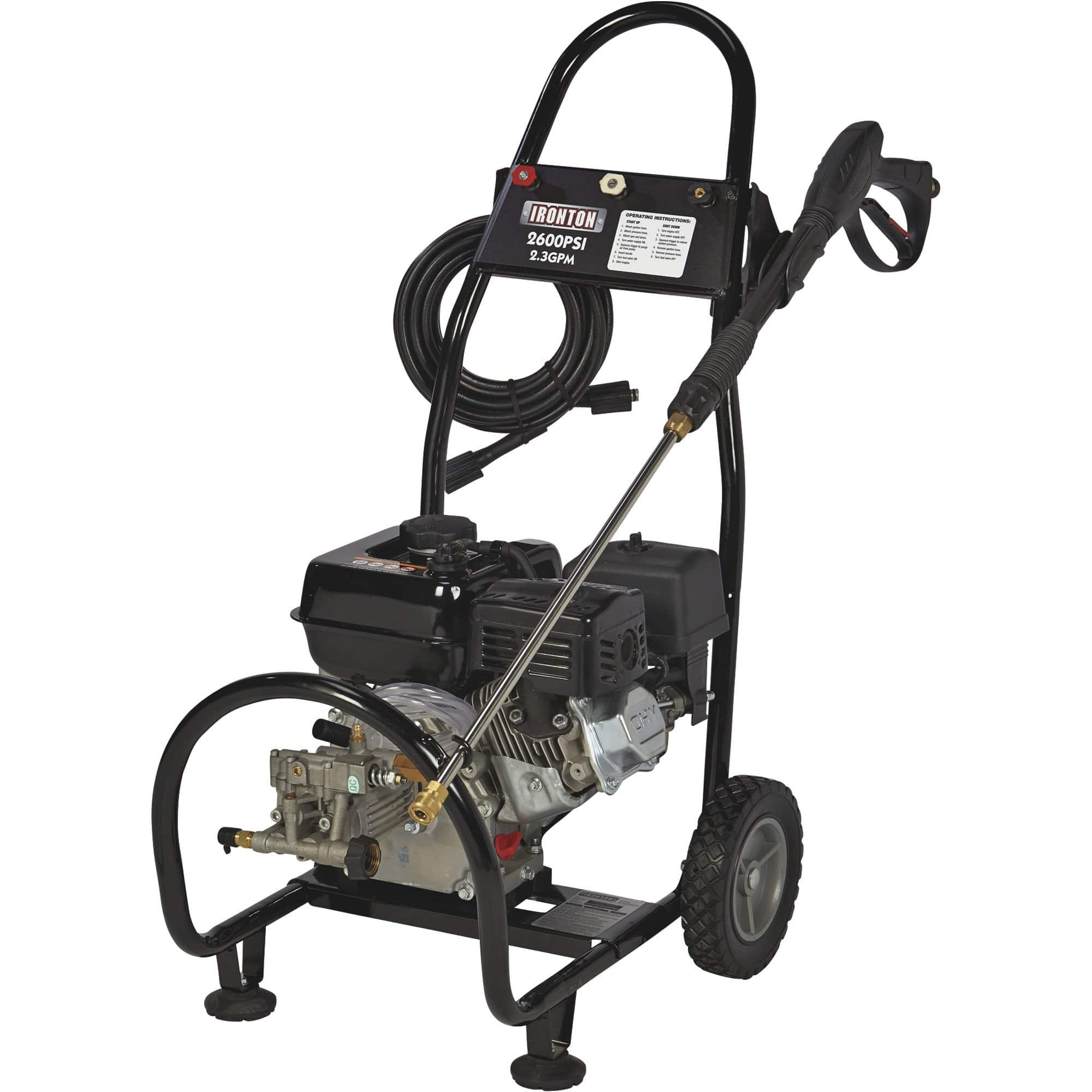 Ironton Gas Cold Water Pressure Washer — 2600 PSI, 2.3 GPM, Model# 87034 $180