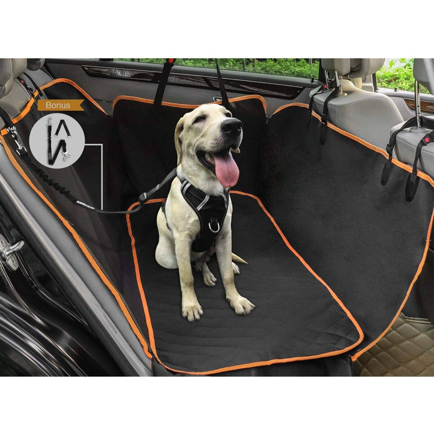 WINSEE Dog Seat Covers for Cars/Trucks/SUV, Dog Car Hammock Car Seat Protector, 100% waterproof - $22.91