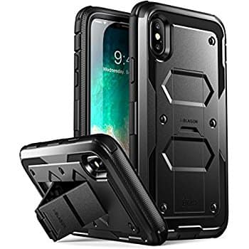 iPhone X i-Blason Heavy Duty Case w/ built in screen protector and kickstand $8.09