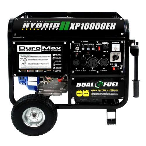 DuroMax 10000 Watt Hybrid Dual Fuel Portable Gas Propane Generator $729