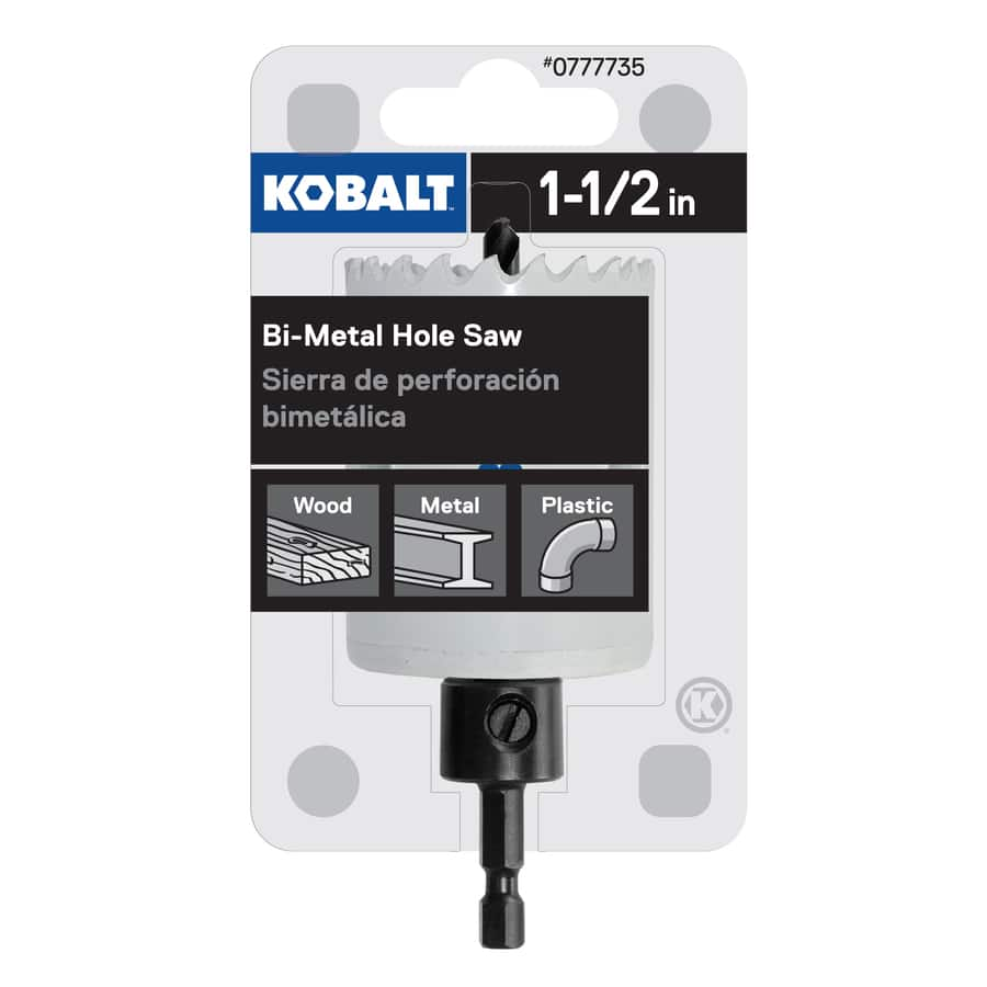 """Kobalt 1-1/2-in Bi-Metal Arbored Hole Saw - ALSO 1 1/4"""" and 2"""" - ymmv $2.62"""