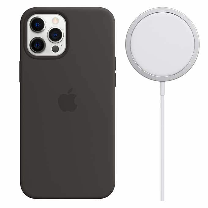 apple black iphone 12 magsafe case and charger 59.97 $59.97