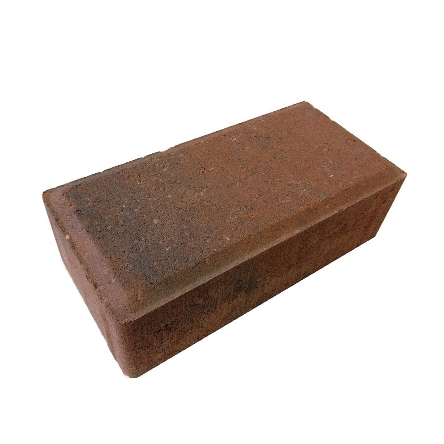 Red/charcoal Concrete Paver (Common: 4-in x; Actual: 4-in x 8-in) YMMV $0.25
