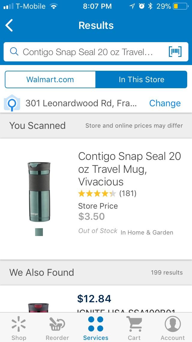 Contigo Coffee Mug -  $3.5