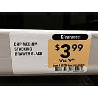 Lowe's - stackable plastic drawer - $  2.49 - YMMV