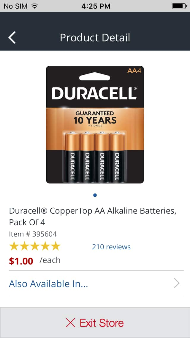Office Depot - 4-pack duracell batteries $1 or less YMMV in store only
