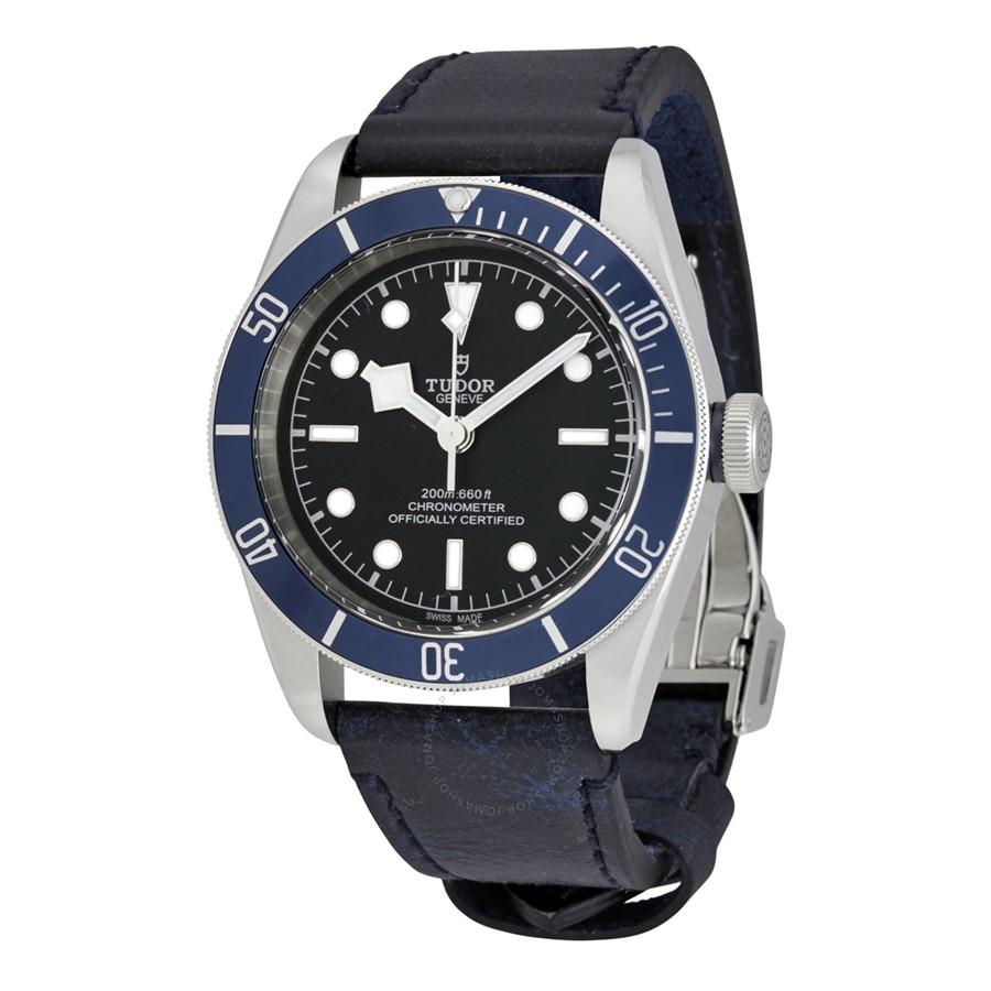 Tudor Men's Heritage Black Bay Black Dial - Blue Bezel - chronometer watch $2395