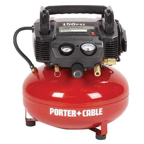 Porter-Cable 0.8 HP 6 Gallon Oil-Free Pancake Air Compressor C2002 Reconditioned $64.99