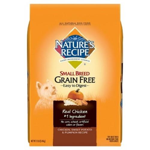 Nature's Recipe Grain Free Small Breed Dry Dog Food, Chicken, Sweet Potato & Pumpkin on sale $13.85