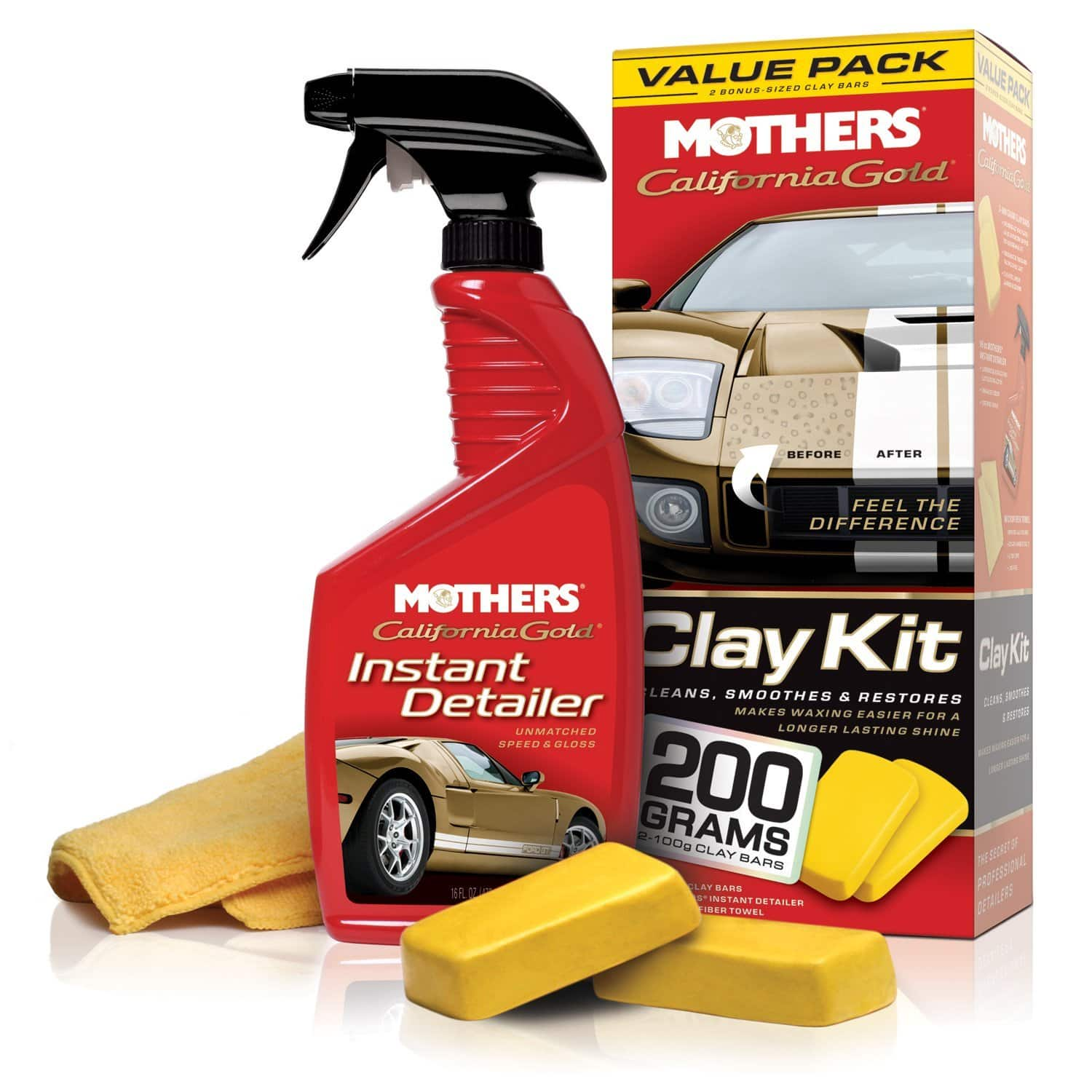 Mothers 07240 California Gold Clay Bar System:  $9.94 w/ Free S&S Shipping - Amazon.com