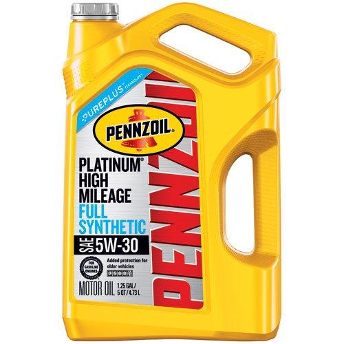 $3.70 AR - 5QT Pennzoil Platinum High Mileage Motor Oil 5W-30 @ Amazon.com for Prime Members