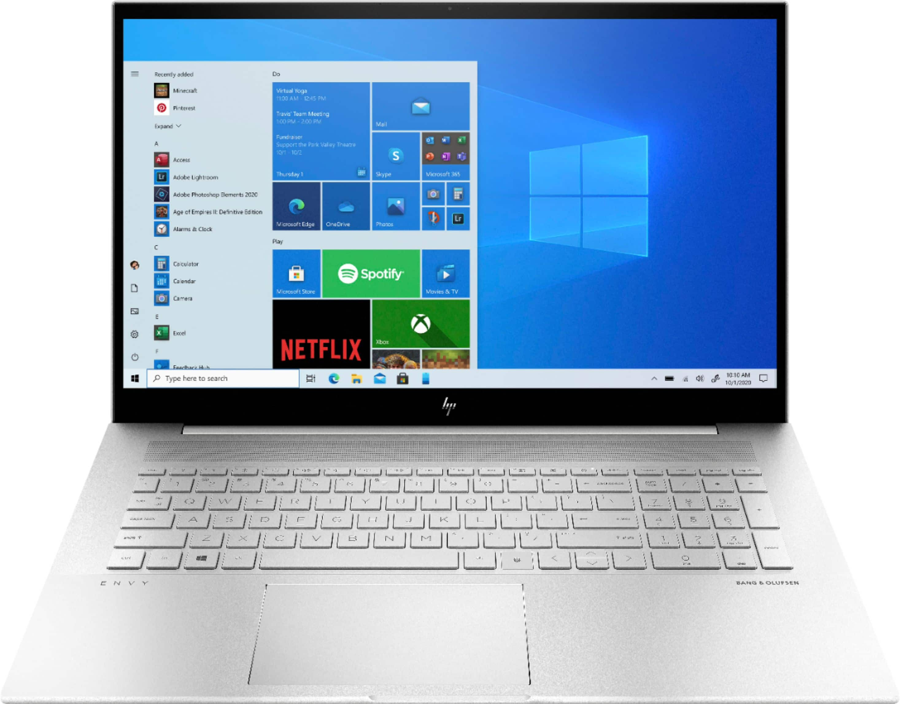 """HP - ENVY 17.3"""" Touch-Screen Laptop - Intel Core i7 - 12GB Memory - 512GB SSD + 32GB Intel Optane - Natural Silver $829.99 with student deal"""