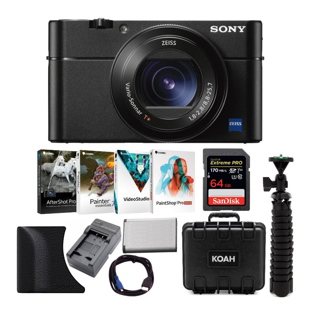 Sony RX100V Cyber-Shot Digital Camera with AGR2 Grip, 64GB SD Card and Accessory Bundle $848.00