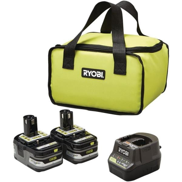 2 RYOBI 3Ah 18-Volt ONE+ LITHIUM+ HP Battery & Charger+Bag $99