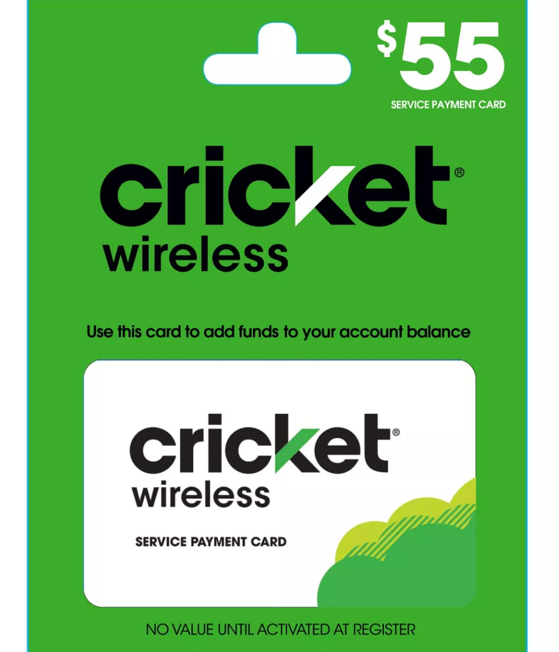 $55 Cricket refill cards for $50 - only works on mobile app