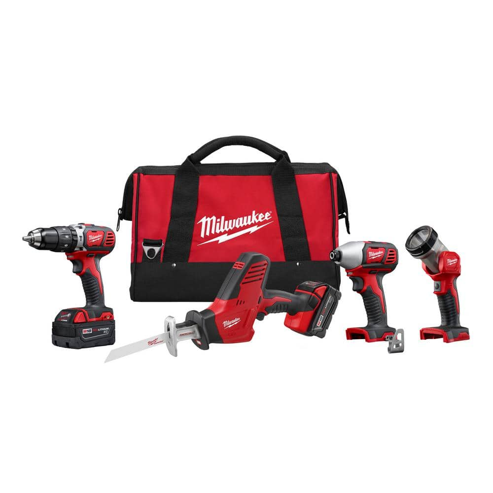Milwaukee M18 4 Tool Combo - Home Depot (YMMV) $200