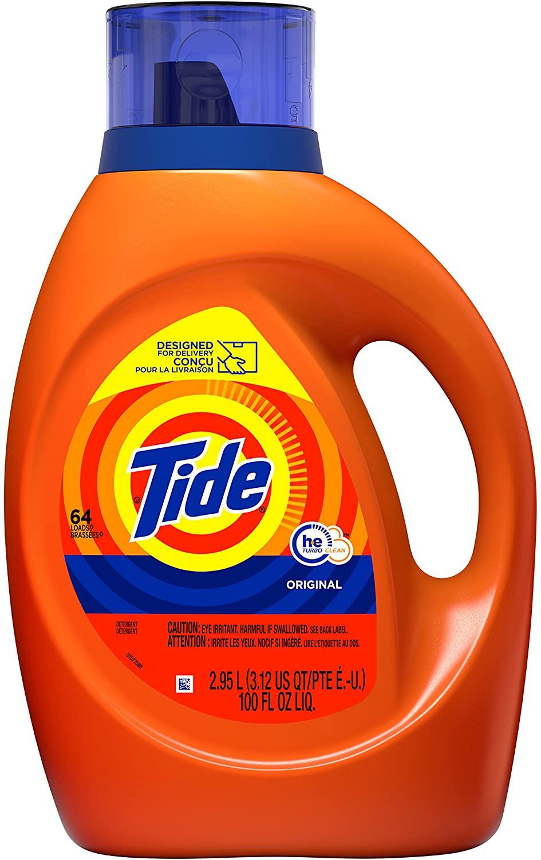 Tide Laundry Detergent Liquid, Original Scent, HE Turbo Clean, 100 Fl Oz $10.32