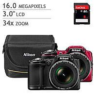 Costco Wholesale Deal: Nikon COOLPIX L830 -16 MP CMOS - 34X Optical Zoom Digital Camera Bundle- $159.99 + $4.99 shipping - Costco