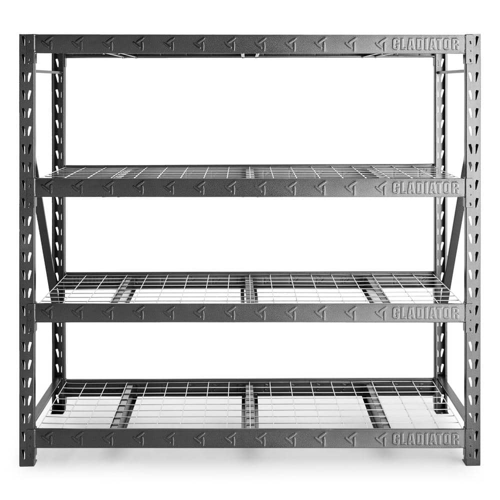 """Gladiator 77"""" Wide Heavy Duty Rack with Four 24"""" Deep Shelves $137.99"""